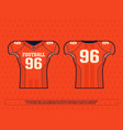 modern professional jersey player american vector image