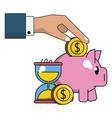 money savings cartoon vector image vector image