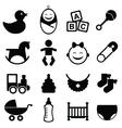 Newborn icon toys vector image