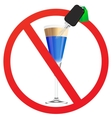 No Drunk driving vector image