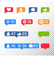 notifications icons template like symbol vector image vector image