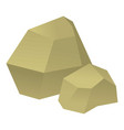 origami stone icon cartoon style vector image
