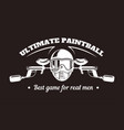 paintball sport club with best game for real men vector image vector image