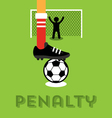 Penalty taker vector image