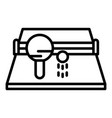 ping pong icon outline style vector image vector image