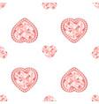 pink diamond jewelry seamless pattern vector image