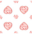 pink diamond jewelry seamless pattern with vector image