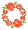 Poppies wreath vector image