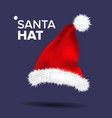 red santa hat traditional costume winter vector image