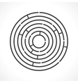 round maze vector image vector image