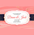 royal wedding card invitation with golden glitter vector image