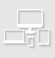 Set of computer tablet vector image