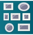 Set of different picture frames and pictures vector image vector image
