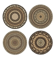Set of ethnic mandala vector image vector image