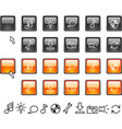 Set of web icons vector image vector image