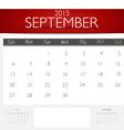 Simple 2015 calendar September vector image
