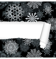 Snowflakes Pattern With Torn Stripe vector image vector image