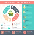 Spa Infographic Set vector image vector image