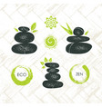 spa retreat organic eco pebble garden zen design vector image