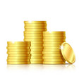 stack of gold coins vector image
