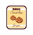 Sticker Sweet Buns For You vector image vector image