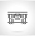 subway wagon flat line icon vector image