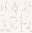sweet dreams - design elements for baby scrapbook vector image