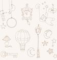 sweet dreams - design elements for baby scrapbook vector image vector image