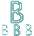Teal b letter logo design set vector image vector image