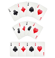 Three aces poker vector image vector image