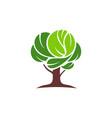 tree logo icon green concept vector image vector image