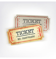 two tickets vector image vector image
