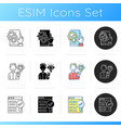 user experience analysis icons set vector image vector image