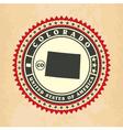 Vintage label-sticker cards of Colorado vector image vector image