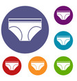 woman underwear panties icons set vector image vector image