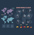 world time infographics vector image