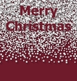 Lettering Merry Christmas on red backdrop white vector image
