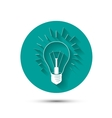 light bulb idea icon on green background with vector image