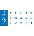 15 nail icons vector image vector image