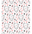 adorable kitty pattern vector image vector image