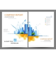 Annual Report and Presentation Template design vector image vector image