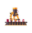 automated packing machine vector image vector image