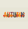 autumn themed text art vector image vector image