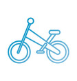 bicycle travel sport toy sport kids transport vector image