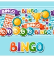 Bingo or lottery game seamless pattern with balls vector image vector image