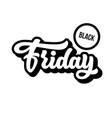 black friday sale lettering badge vector image vector image