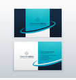 blue business card design template vector image vector image