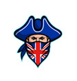 british highwayman wearing bandana mascot vector image vector image