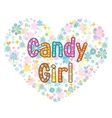 candy girl greeting card vector image