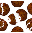 chocolate chip cookies pattern vector image